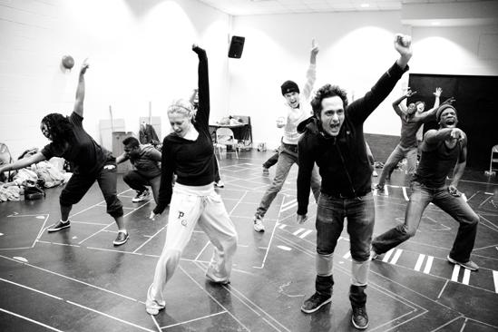 Hair Replacement Cast Rehearsal – group