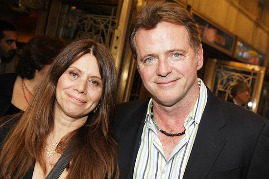 Aidan Quinn and his wife Elizabeth Bracco