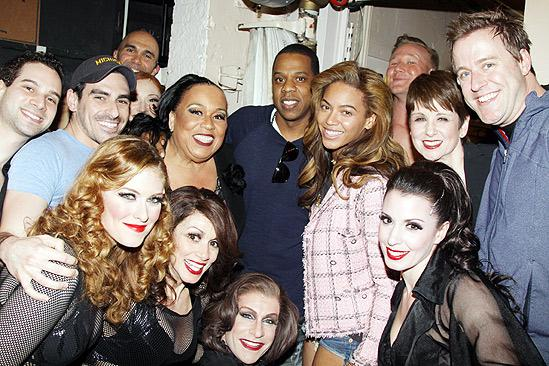 Beyonce Knowles and Jay-Z at Chicago -cast
