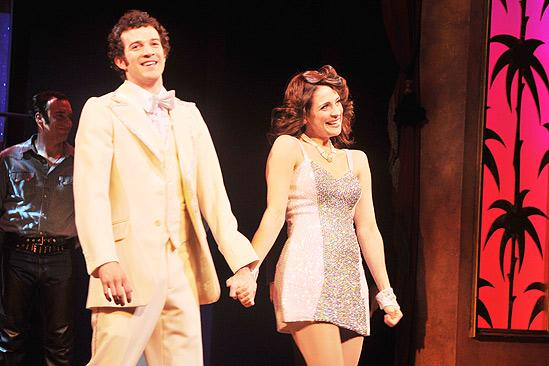 La Cage aux Folles Opening Night – A. J. Shively – Elena Shaddow (curtain call)