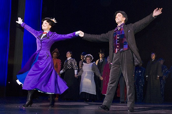 Mary Poppins New Cast 2009 – cc – Laura Michelle Kelly – Christian Borle