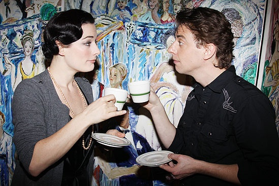 New Mary Poppins Stars 2009 at Sardi's – Laura Michelle Kelly - Christian Borle (tea)
