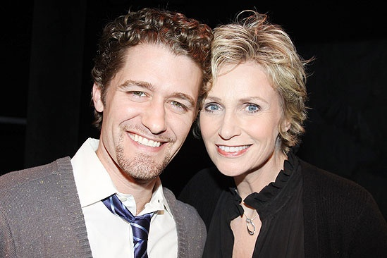 Matthew Morrison at Love, Loss and What I Wore - Matthew Morrison - Jane Lynch - friendly