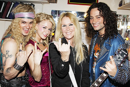 Lita Ford at Rock of Ages – Jeremy Woodward – Emily Padgett – Lita Ford – Constantine Maroulis