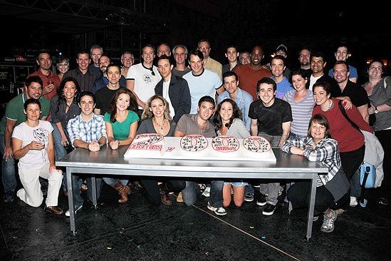 Jersey Boys 2,000th Performance – ensemble