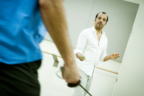 Free Man of Color Rehearsal – Jeffrey Wright (thrusting)