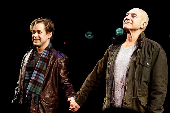 A Life in the Theatre Opening Night – T.R Knight – Patrick Stewart (curtain call)
