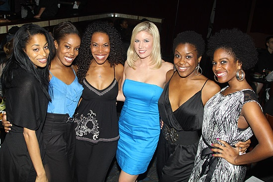 Memphis First Anniversary on Broadway – ladies of ensemble