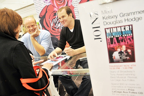 La Cage CD Signing – Kelsey Grammer – Douglas Hodge (table)