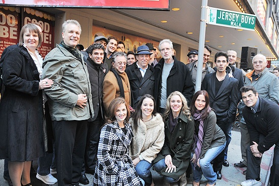 Jersey Boys Fifth Anniversary – group shot