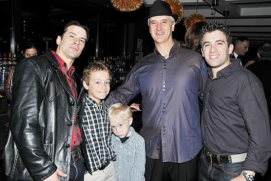 Jersey Boys Fifth Anniversary – Mark Lotito – son Luca – son Giovanni – Dominic Nolfi – Jarrod Spector