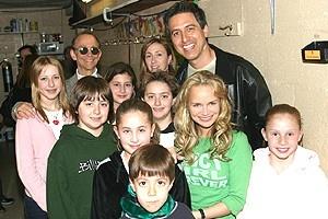 Ray Romano at Wicked - Joel Grey - Ray Romano - Kristin Chenoweth - kids