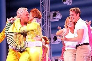 Pawk/Dossett Mamma Mia party - John Dossett - Michele Pawk - Carey Anderson - Andy Kelso