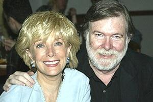 Husband and wife, Aaron Latham and Lesley Stahl
