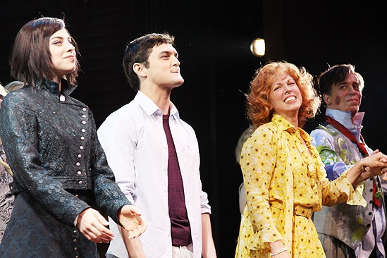 The Addams Family opening – cc - Krysta Rodriguez – Wesley Taylor – Carolee Carmello – Terrence Mann