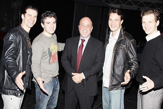 Billy Joel at Jersey Boys – Dominic Nolfi – Jarrod Spector – Billy Joel – Matt Bogart – Sebastian Arcelus