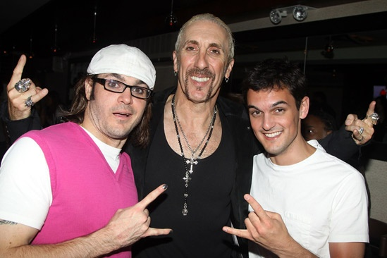 Dee Snider Rock of Ages opening night – Mitchell Jarvis – Dee Snider – Wesley Taylor