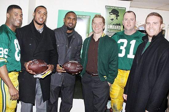 Lombardi Real Packers – Robert Christopher Riley – Ryan Grant – Charles Woodson – Bill Dawes- Chris Sullivan – John Kuhn