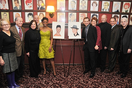 Chad and Montego Sardi's caricatures – Montego Glover – Chad Kimball – producers