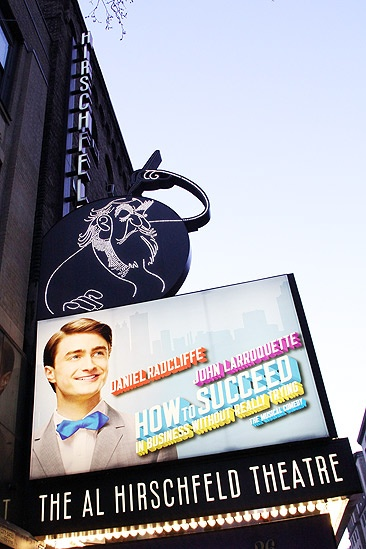 How to Succeed Opening Night – marquee