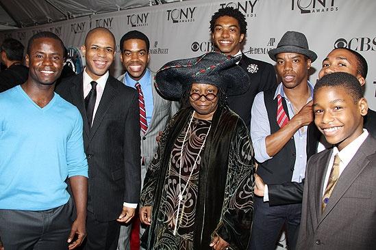 2011 Tony Awards Red Carpet – Whoopi Goldberg - Scottsboro Boys cast