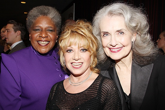 <i>Follies</i> opening night – Terri White – Elaine Paige – Mary Beth Peil