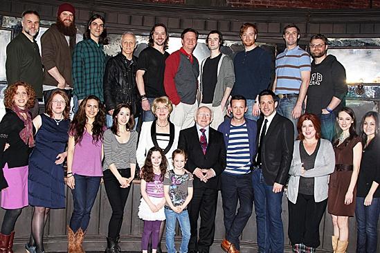 Irish President Visits Once –  Michael D. Higgins – Steve Kazee – Cristin Milioti – cast of Once