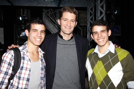 Matthew Morrison at Newsies – Matthew Morrison – David Guzman – Jacob Guzman