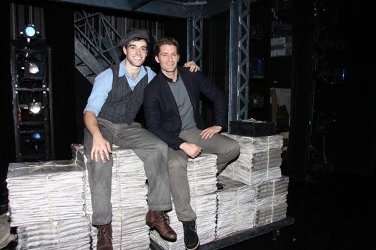 Matthew Morrison at Newsies – Matthew Morrion – Corey Cott