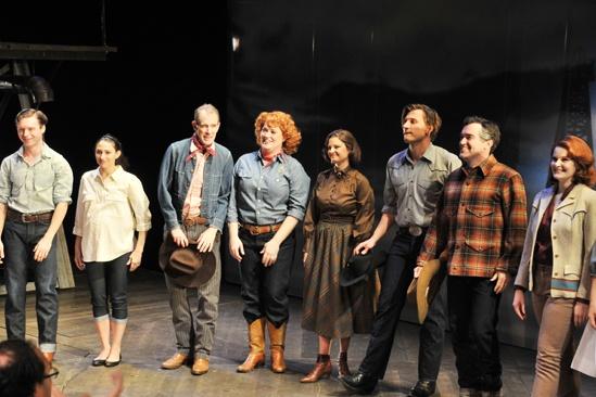 'Giant' Opening Night — Bobby Steggert — Natalie Cortez — William Youmans — Katie Thompson — Mary Bacon — PJ Griffith — Brian d'Arcy James — Kate Baldwin