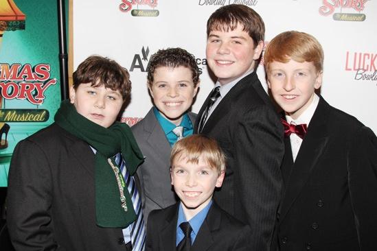 'A Christmas Story' Opening Night — Jeremy Shinder — J.D. Rodriguez — Luke Spring — Jack Mastrianni — George Franklin