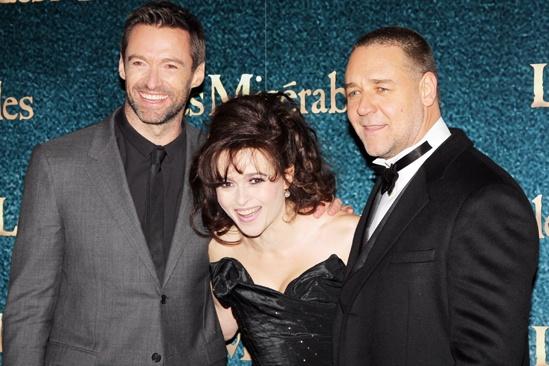 Les Miserables London premiere – Hugh Jackman – Helena Bonham Carter – Russell Crowe
