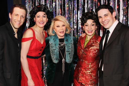 Joan Rivers at 'Forbidden Broadway' — Scott Richard Foster — Natalie Charle Ellis — Joan Rivers — Jenny Lee Stern — Marcus Stevens