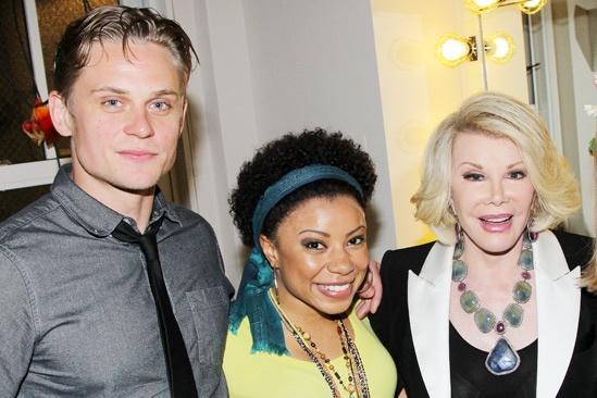 Joan Rivers and Tab Hunter at Vanya – Joan Rivers – Billy Magnussen – Shalita Grant – Joan Rivers
