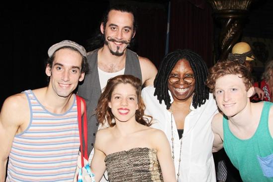 Pippin – Whoopi Backstage Visit – Gregory Arsenal – Yannick Thomas – Lolita Costet – Whoopi Goldberg – Philip Rosenberg