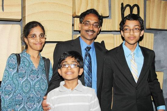 Spelling Bee Champ at Matilda – Arvind Mahankali – family