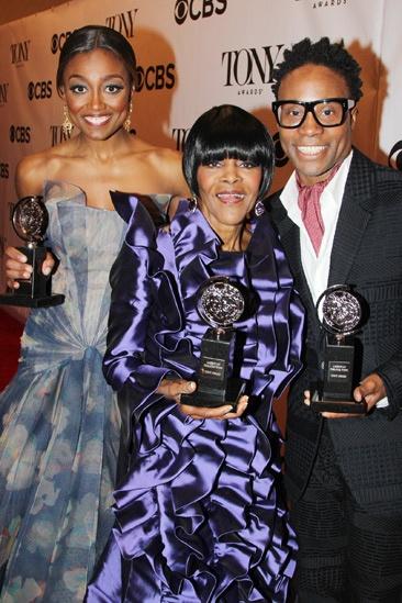 2013 Tony Awards Winner's Circle – Patina Miller — Cicely Tyson — Billy Porter