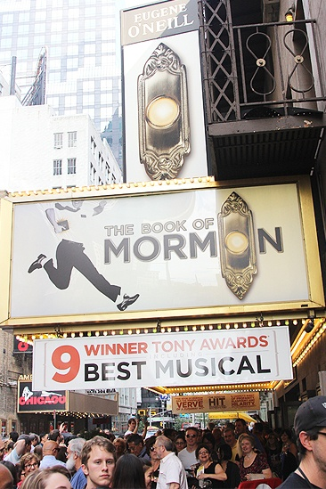 The Book of Mormon 1,000 performances – marquee