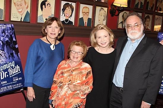 'Becoming Dr. Ruth' Press Day — Julianne Boyd — Dr. Ruth Westheimer — Debra Jo Rupp — Mark St. Germain