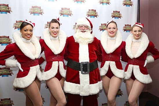 Radio City Christmas Spectacular 2013 opening – Adrienne Howard – Kristina Larson Hauk – Santa – Raley Zofko – Ashley Kasunich