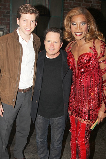 Michael J. Fox Visits Kinky Boots - Stark Sands – Michael J. Fox – Billy Porter