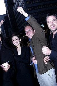 Phantom Film Stars at Bloomingdale's - Emmy Rossum - Patrick Wilson (waving)
