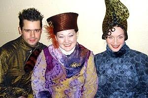 Backstage at Wicked (2/05) - Rob Sapp - Kathy Deitch - Michelle Federer