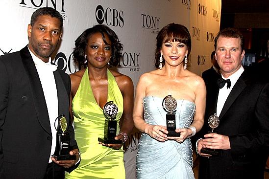 2010 Tony Winners Circle – Denzel Washington – Viola Davis – Catherine Zeta-Jones – Douglas Hodge
