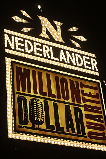 Million Dollar Quartet Photo Op – Nederlander sign