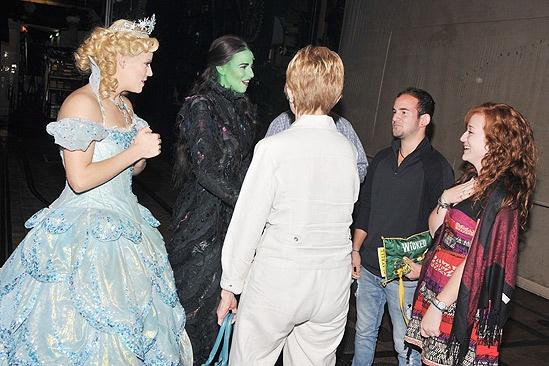 Wicked 5 Millionth Audience Member – Katie Clarke – Mandy Gonzalez – Gloria LaTorre – Brett LaTorre – Eden Roberts