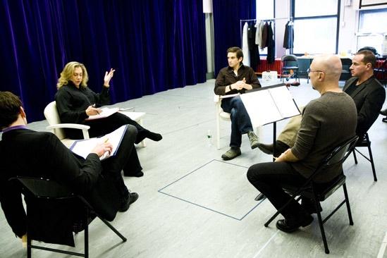 High rehearsal – Stephen Kunken – Kathleen Turner – Evan Jonigkeit – Matthew Lombardo – Rob Ruggiero