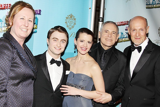 How to Succeed Opening Night – Beth Williams – Daniel Radcliffe – Rose Hemingway – Craig Zadan – Neil Meron