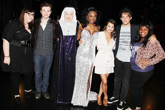 Glee Cast at Sister Act – Ashley Fink – Chris Colfer- Victoria Clark – Patina Miller – Lea Michele – Theo Stockman – Amber Riley