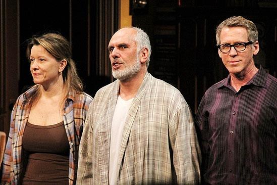 Intelligent Homosexual's Guide Opening Night – Linda Emond – Michael Cristofer – Stephen Spinella (curtain call)
